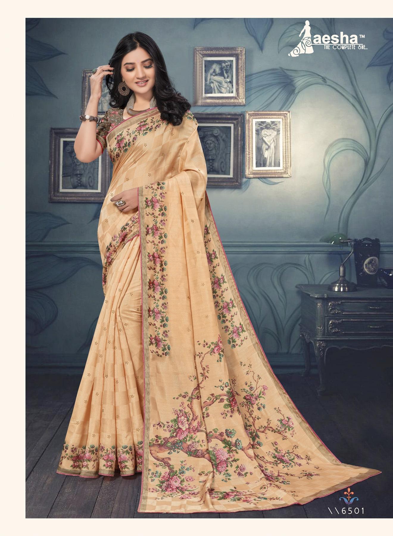 Embellished Tussar Silk Saree