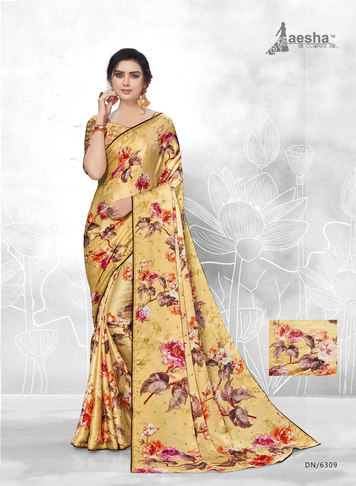 Fancy Satin Crepe Digital Printed Saree